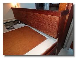 remove the back berth shelf